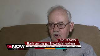 Elderly crossing guard recounts hit-and-run accident - Video