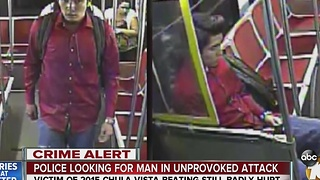 Police looking for man in unprovoked attack - Video