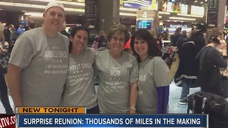 Children surprise mom at McCarran for 75th birthday - Video
