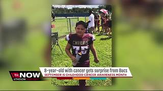 Local 8-year-old battling leukemia while being an inspiration to his community - Video