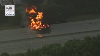 1 person confirmed dead after fiery crash closes Route 8 in Akron