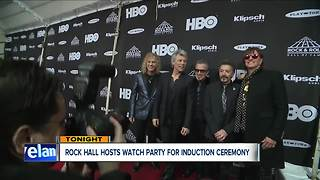Rock Hall hosts watch party for induction ceremony - Video