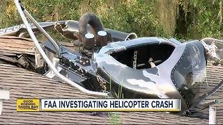 Helicopter crashes into home, pilot rushed to the hospital