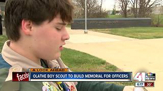 Olathe teen to build memorial for officers as Eagle Scout project