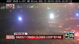 Deadly crash shuts down L-101 at Northern - Video