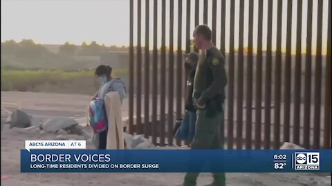 Border closed, residents divided on migrant surge