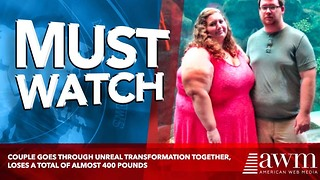 Couple Goes Through Unreal Transformation Together, Loses A Total Of Almost 400 Pounds - Video