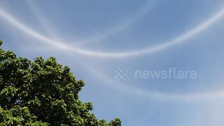 Magical 'halo' phenomenon over Zimbabwe - Video