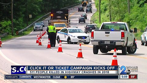 Seatbelt enforcement kicks off Maryland Click It or Ticket Campaign