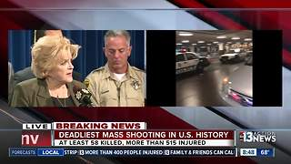 Las Vegas Mayor Goodman,  Nevada Governor Sandoval, officials speak about mass shooting in Las Vegas - Video