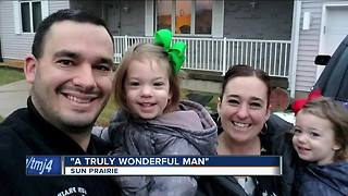 Sun Prairie firefighter's wife calls him best husband, dad - Video