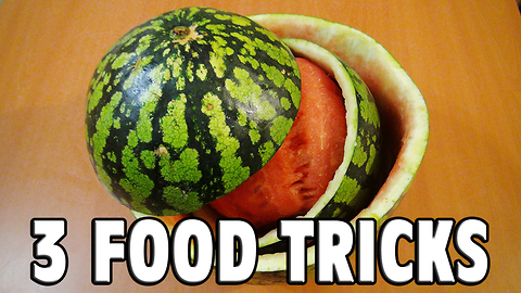 3 super cool food tricks to surprise your friends