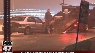 Alcohol a factor in early morning crash in Lansing - Video