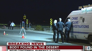 North Las Vegas police investigating body found - Video