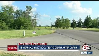 Friends remember Muncie teen electrocuted following crash - Video