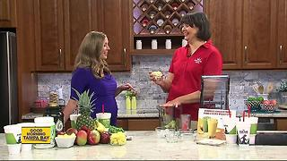 Vegan Mango Kale smoothie right ingredients for wellness, fitness