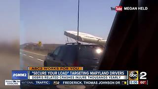 "MDTA targeting Maryland drivers in ""Secure Your Load"" campaign - Video"