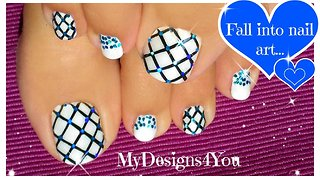 Glitter Fishnet Toenail Art - Video