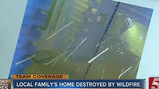 Local Family Watches Gatlinburg Cabin Burn Via Security Cameras - Video