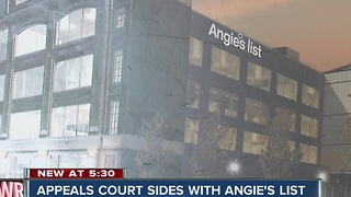 State Appeals Court sides with Angie's List - Video