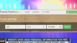 Website gives away personal information for free - Video
