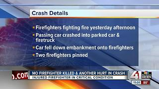 One Mayview firefighter killed, another injured in crash - Video