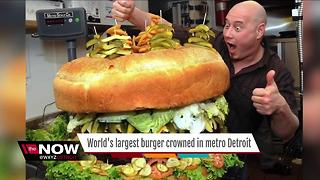 World's largest burger crowned in metro Detroit - Video