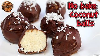 No-bake chocolate coconut balls: Easy vegan dessert recipe - Video