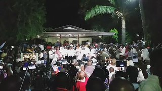 Ghanaian President-Elect Speaks to Celebratory Crowds Outside Accra Home - Video
