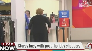 Stores busy with post-holiday shoppers - Video
