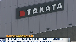 Takata execs charged, company paying $1 billion fine - Video