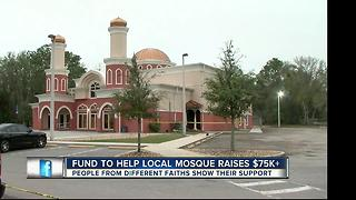 Jewish community rallies to help burned Tampa mosque - Video