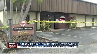 Investigators look into family owned business destroyed by fire in Oldsmar - Video