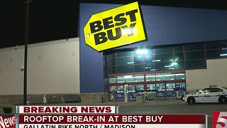 Burglars Sought In Best Buy Rooftop Break-In - Video