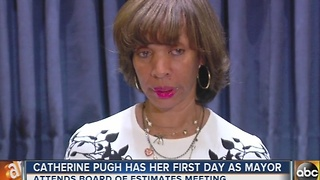 Catherine Pugh has her first day as mayor of Baltimore