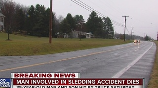 Father involved in sledding accident dies - Video