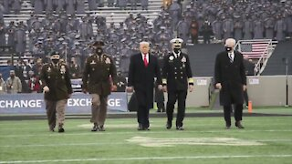 Army + Navy Show Their Loyalty to President Trump at 121st Army/Navy Football Game