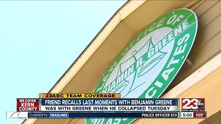 Friend recalls last moments with Benjamin Greene - Video