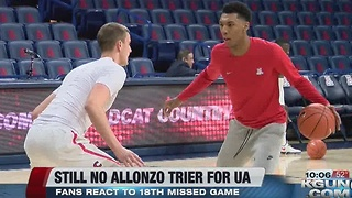 Arizona basketball fans react to no Allonzo Trier - Video