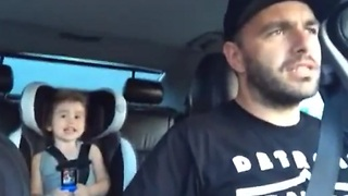 Dad and daughter sing 'Let it Go' remix in the car - Video