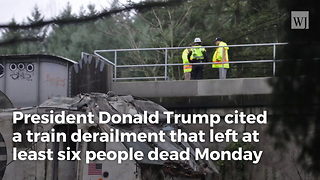 Trump Calls For Massive Infrastructure Plan Following Deadly Amtrak Train Crash - Video
