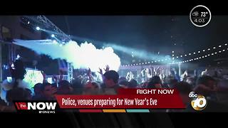 San Diego police, venues preparing for New Year's Eve - Video