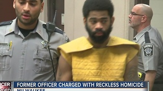Ex-officer charged in shooting appears in court