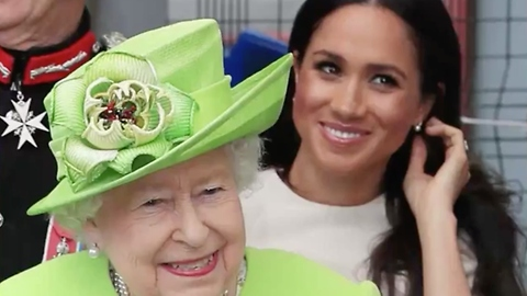 Queen Shows Duchess Meghan the Ropes at First Solo Engagement Together