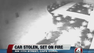 BOLO - Cape Coral PD looking for stealing car, setting on fire - Video
