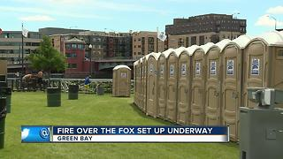 Crews get downtown Green Bay ready for Fire Over the Fox - Video