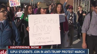 IUPUI students join anti-Trump protest march