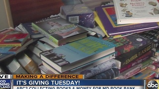 ABC2 collected books and money for the Maryland Book Bank - Video