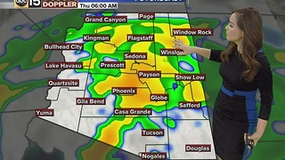 Storms bringing rain and snow to AZ ahead of Christmas - Video