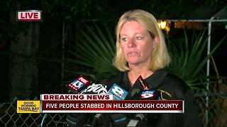 One dead, four injured in a stabbing near 78th Street in Hillsborough County - Video